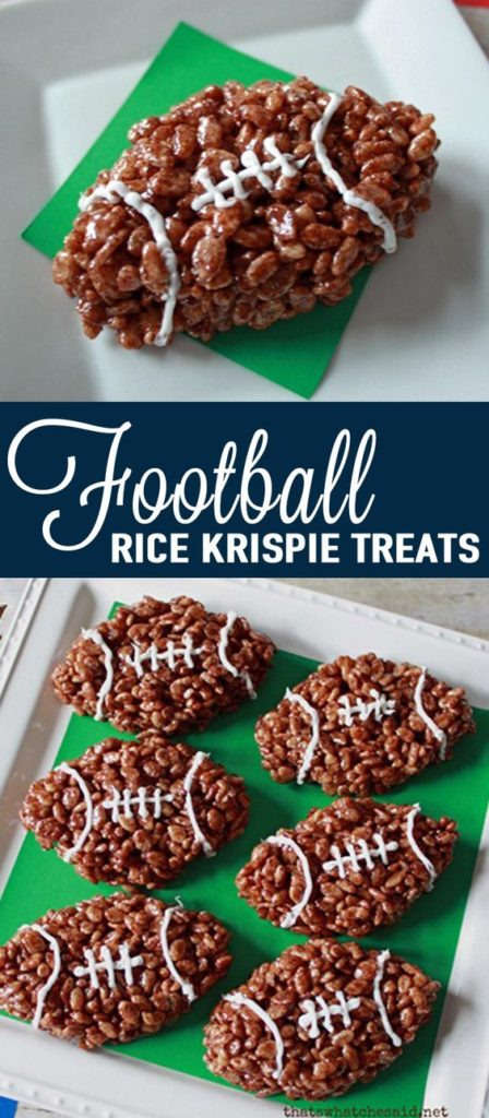 Fotball Rice Krispie Treats